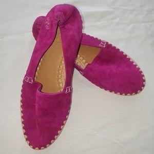 Tory Burch Loafer Flats Fuscia Size 5